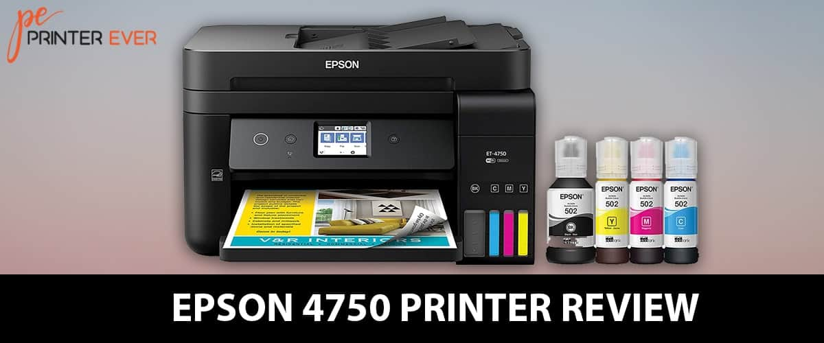 Epson 4750 Printer Review With Competitive  An Arduous Task