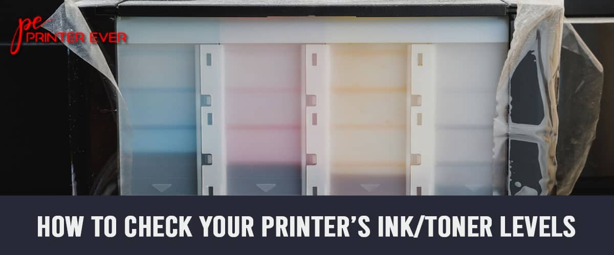 How to Check Your Printer's InkToner Levels